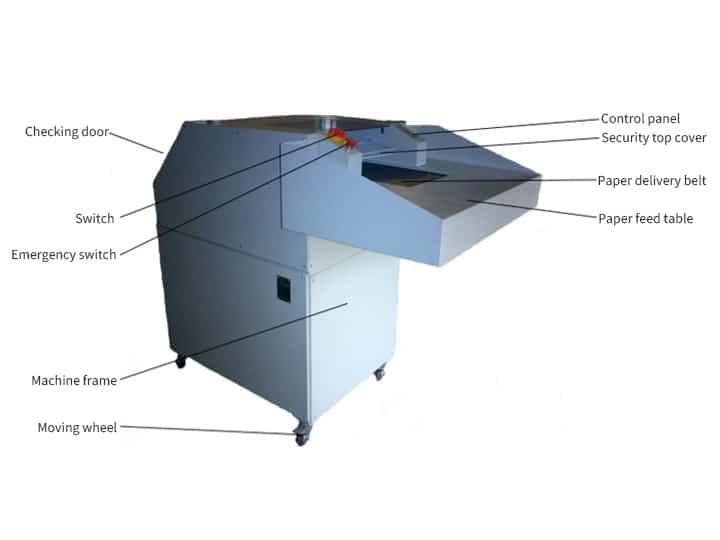 The structure of the wood shredder